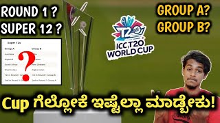 ICC Cricket World Cup 2021 confusions cleared kannada|ICC T20 WC time table|ICC T20 WC points table