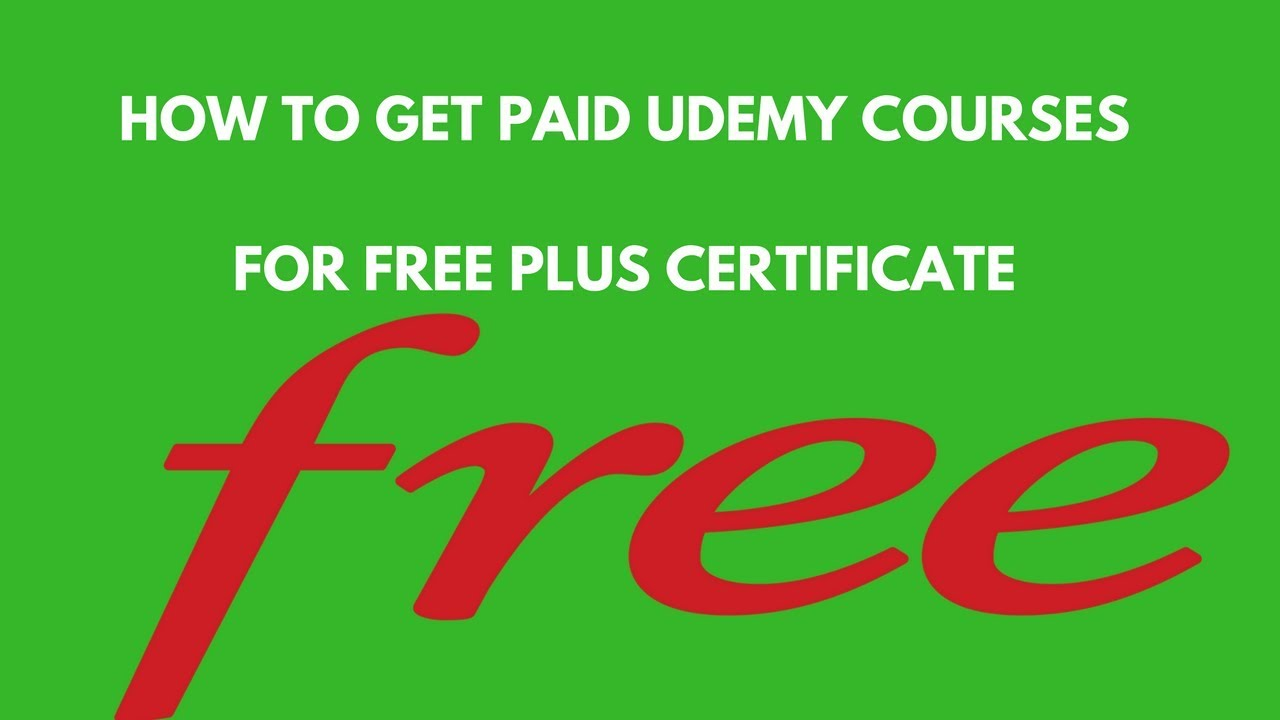 How To Get Udemy Paid Courses For Free Plus Certificate Youtube