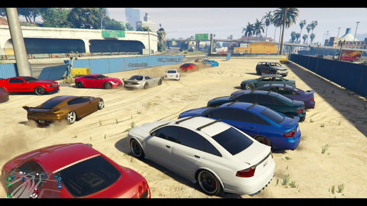 GTA 5 Online Car Meet Up | Cruising | Gun Fight | Racing ...