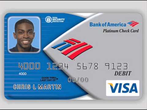visa debit card of bank of america youtube. Black Bedroom Furniture Sets. Home Design Ideas