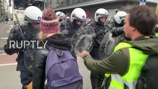 Belgium: At least 70 arrested in violent 'Yellow vest' protests in Brussels