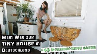 Stauraumtreppe bauen! ♦ Mein Weg zum TINY HOUSE in Deutschland #48