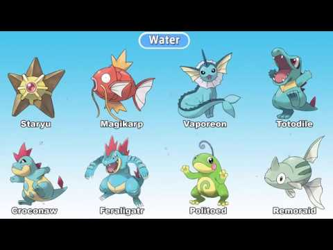 pokemon in hindi all water type pokemon by dt drawing youtube