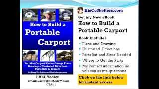 How To Build A Portable Carport (ebook Today Free) For Rv, Motorhome, Boat