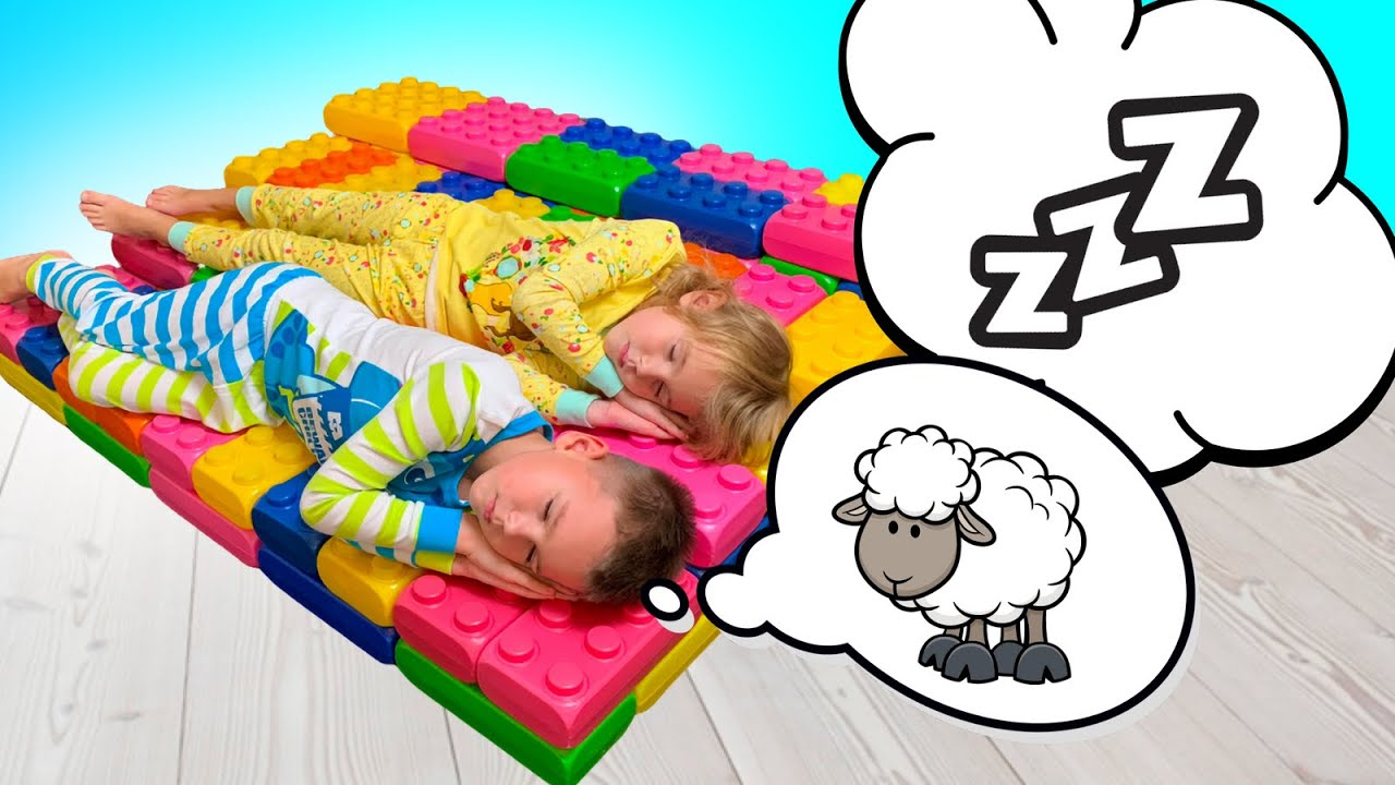 Five Kids Bedtime Story + more funny stories about Toys