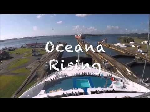 P&O Oceana Transits the Panama Canal Jan 2016
