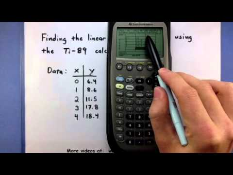 Solved: use a graphing calculator to find a linear regress.