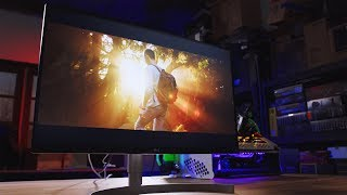 4k Gaming Panel with HDR and IT ISN'T UGLY! LG 27UK850-W