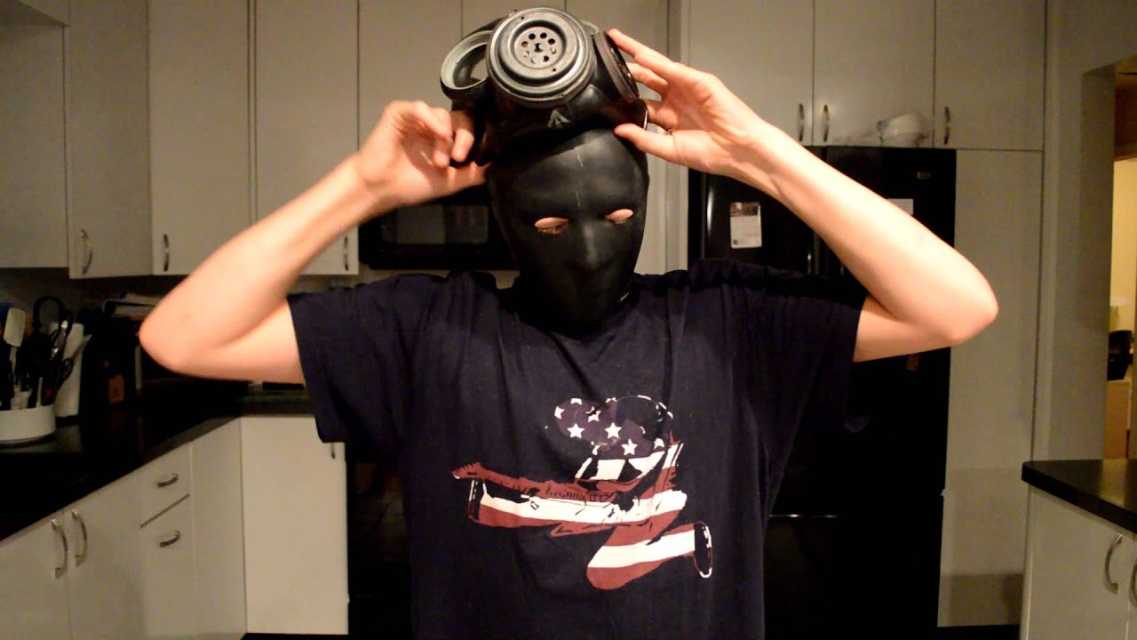 Black Latex Mask And Black Rubber Gasmask - Youtube-1893