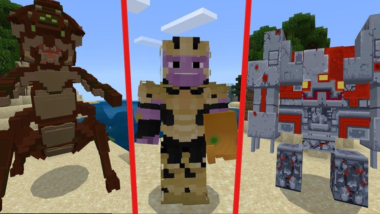 TOP 10 Minecraft BOSS Mods 2019 (Bedrock Edition) YouTube