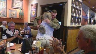 Afton, Tenn. soldier surprises family, friends at Johnson City restaurant