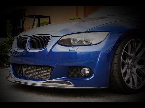 Carbon Fiber Cps Front Lip Installed On Bmw E92 335i At