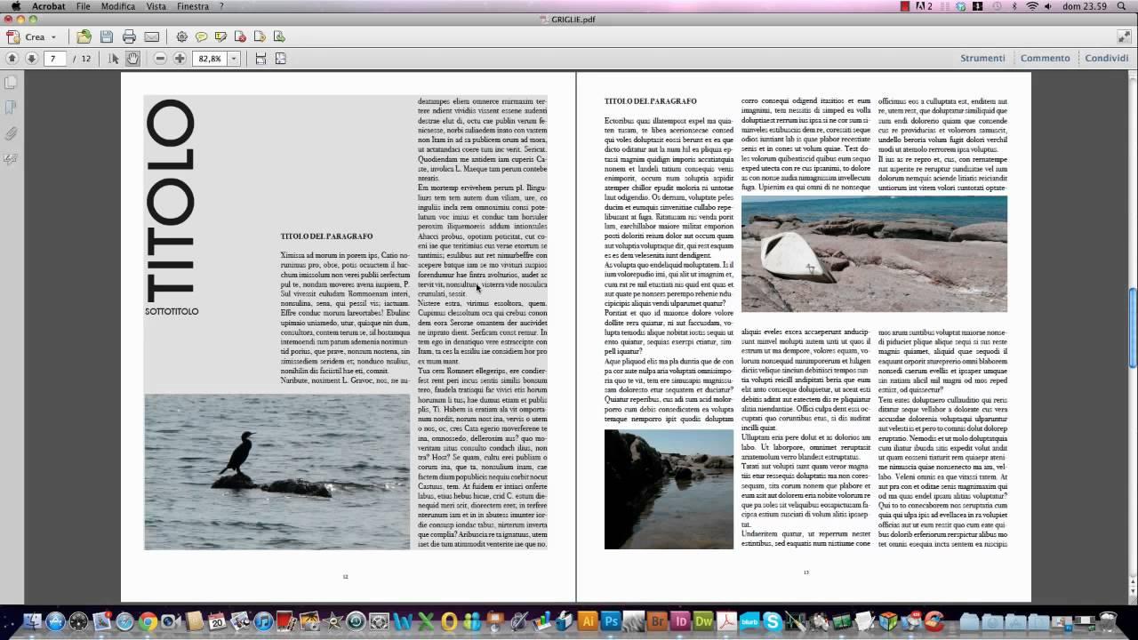 Corso di grafica griglie e colonne per testo e immagini for Corso per arredatore d interni