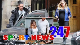 Man Utd star Smalling enjoys lunch out with heavily pregnant wife Sam