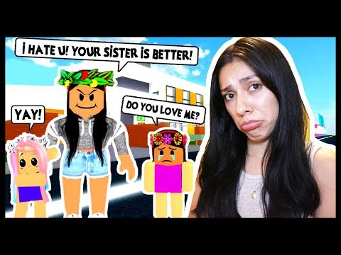 ADOPT AND RAISE A CUTE KID! - Roblox - MY MOM HATES ME & LOVES MY SISTER MORE!