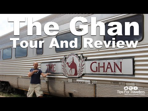 The Ghan Train. Luxury railway from Darwin to Adelaide Australia