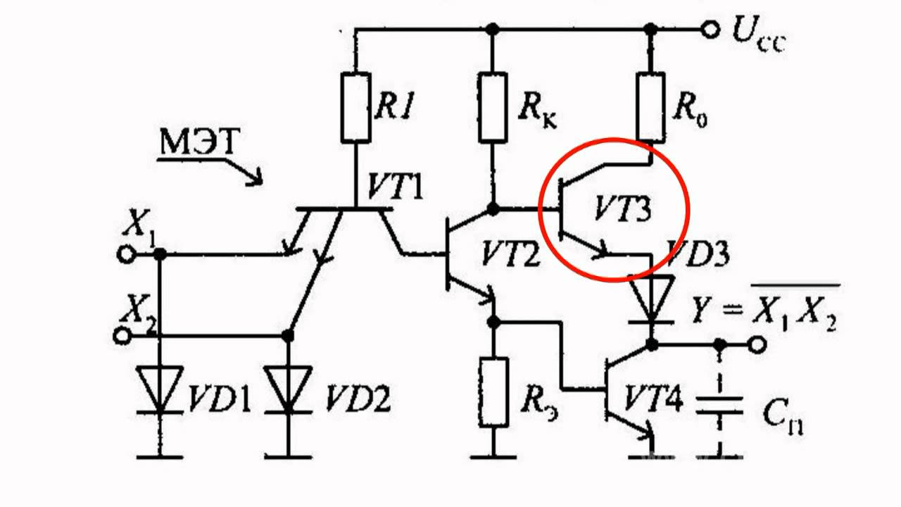 transistor-transistor logic gates equipped