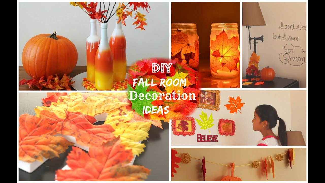 diy fall room decoration ideas 2014 youtube - Fall House Decorations