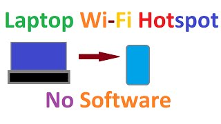 How to Connect pc Internet to Mobile via wifi Without Software. Create wifi HotSpot using cmd