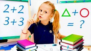 Nastya mengajarkan aturan perilaku dan betapa pentingnya belajar di sekolah