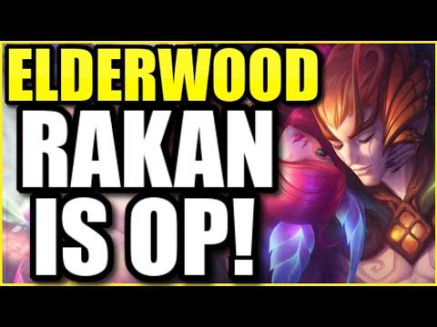 THE NEW ELDERWOOD RAKAN MAKES HIM THE PRETTIEST CHAMPION IN THE GAME! ELDERWOOD RAKAN FULL GAMEPLAY