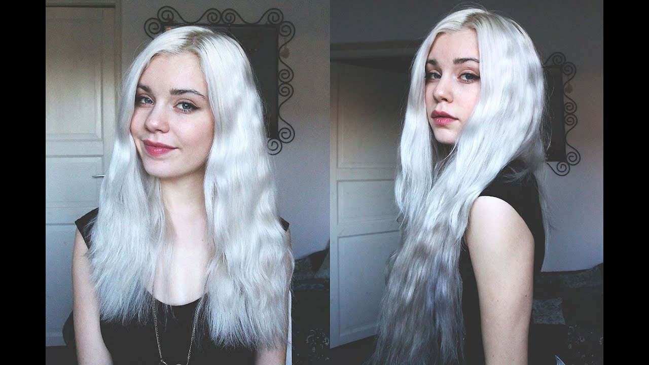 How To Silver Whitegrey Hair Ft Vpfashion Hair Extension Youtube