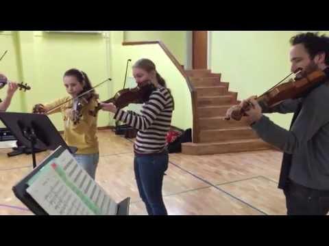 Groove Academy Probe: Kaleidoscope String Quartet & Atelierschule Zürich