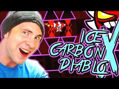 Geometry Dash EXTREME DEMON | Ice Carbon Diablo X by Roadbose