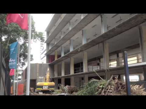 Demolition of former ABC Radio Broadcast Studios in Perth, WA.