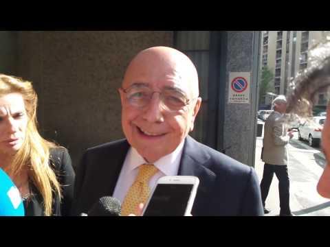 """Milan, Galliani: """"Sono emozionato. Stasera a cena con Berlusconi"""""""