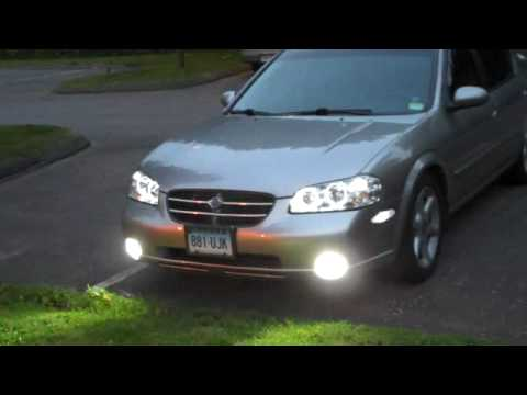 2001 Nissan Maxima With 6000k Fogs Angel Eyes And Led