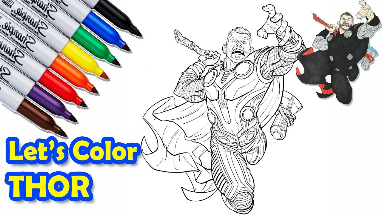 Avengers Thor Coloring Pages - GetColoringPages.com | 720x1280