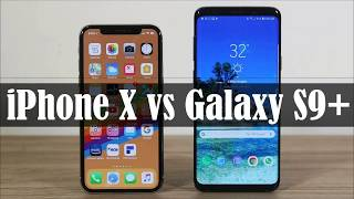 iPhone X on iOS 12 vs Samsung Galaxy S9 +, speed test