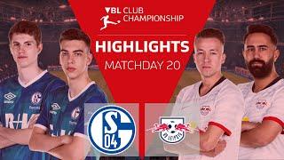 Schaut die highlights vom 20. spieltag der vbl club championship 2019/20 zwischen fc schalke 04 und rb leipzig mit s04_deos, s04_julii, s04 tim latka, , osak...