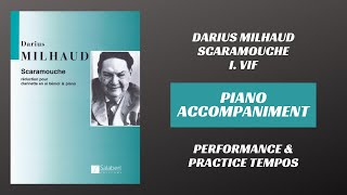 Darius Milhaud – Scaramouche, mvt. I (Piano Accompaniment)