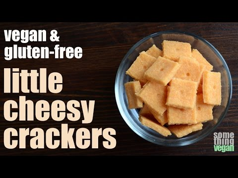little cheesy crackers (vegan & gluten-free) Something Vegan