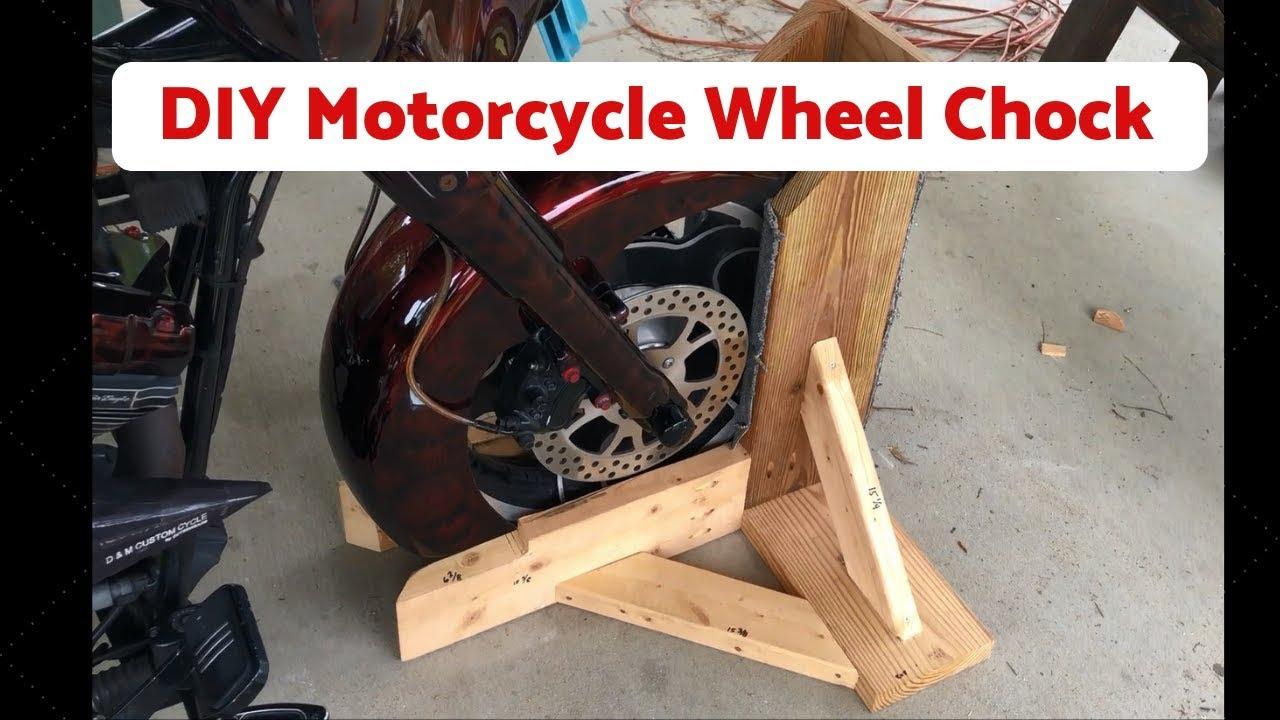 Motorcycle Wheel Chock - YouTube