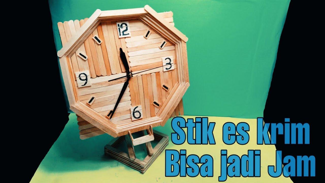 Kreatif Dan Unik Membuat Kerajinan Jam Dinding Kerajinan Tangan Dari Stik Es Krim Youtube Kerajinan tangan dari stik es