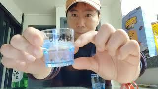 소주 참이슬 오리지널 한병 다 마시기 도전~! 성공? …