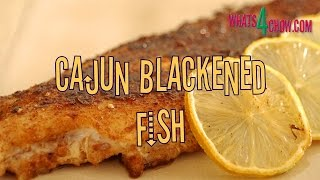 Cajun Blackened Fish. How To Make The Cajun Spice Mix, Coat The Fish And Cook It To Perfection.