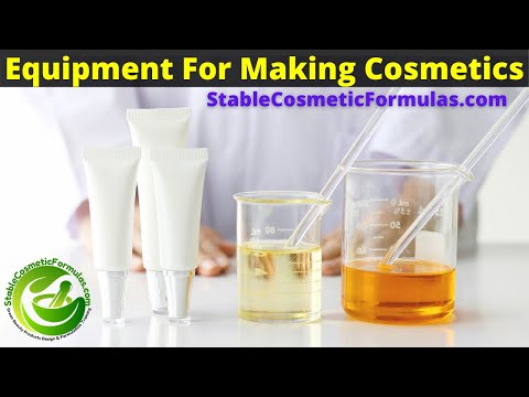 EQUIPMENT FOR MAKING COSMETICS AT HOME - SMALL BATCH COSMETIC MANUFACTURING EQUIPMENT