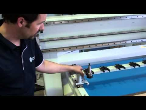 CNC woodworking machine maintenance and cleaning