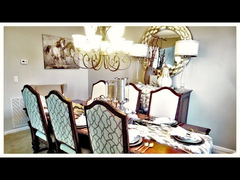 Budget Friendly Dining Room Refresh Fall Decor Tour