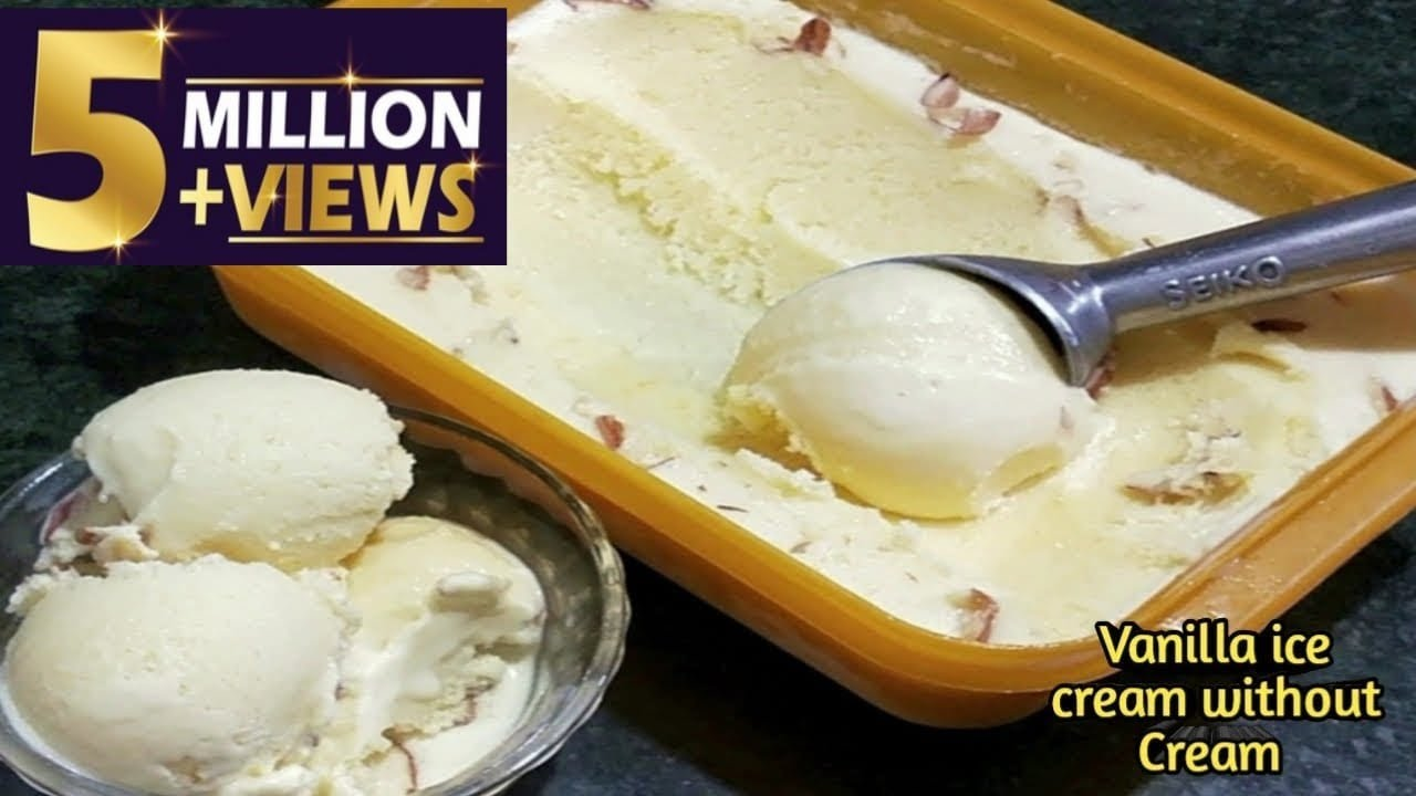 Homemade Vanilla ice cream without cream just make with milk only
