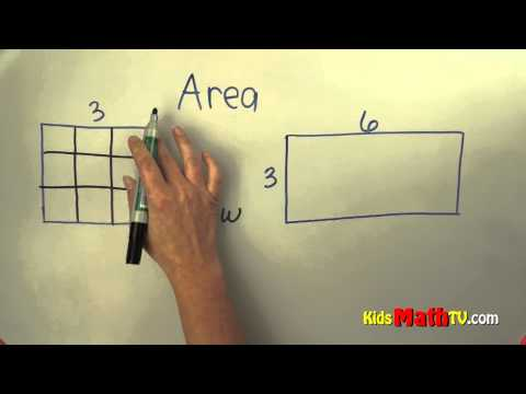 Learn how to calculate the area of a square and rectangle. Math lesson for kids