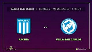 Racing 2 - 1 Villa San Carlos | #VamosLasPibas | Fútbol femenino