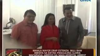 24 Oras: Mayor Erap, muli raw bibisita sa dating Pangulong Arroyo na naka-hospital arrest