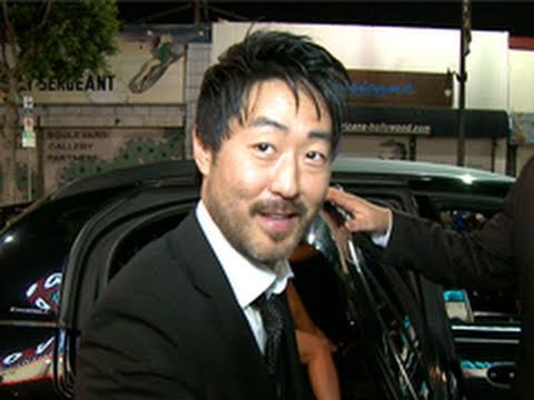 Kenneth Choi Greets  as He Leaves 'Captain America' Premeire Party
