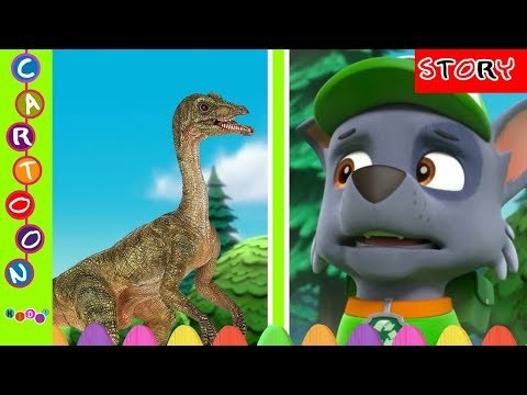 Paw Patrol Rocky Fear Seeing Dinosaurs Movie Nursery Rhymes#Paw Patrol Full Episode ◕‿◕ KidsF