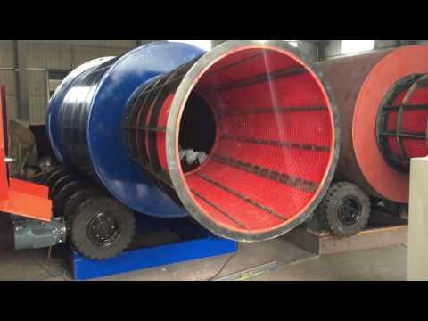 Heavy Clay Washing Machine Rotary Drum Scrubber